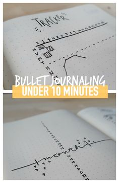 Minimalist BULLET JOURNAL spread UNDER 10 MINUTES!