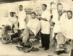Barbershops are extremely important to the African-American community. It was one of the first true respectable professions to open up for Black men who quickly established their own shops since they were not allowed in shops with white clientele.  By the early 18th century, barbershops, were the centers of the various Black communities whether free or slave. Black men not only congregated at the barbershop, they talked about almost everything there; today they still do...