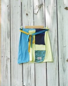 Upcycled Boho Mini Wrap Skirt with Silk by RebirthRecycling, $45.00