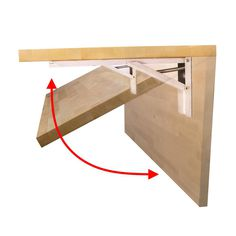 The ideal solution for smaller spaces where a bench is needed, this folding workbench easily lifts into the raised position, where heavy-duty steel brackets lock into place for a 500 lbs. weight rating (properly installed). When not in use, the bench is lowered by pressing the release tabs with fingertip pressure and hangs flat against the wall to regain your space. The UV finished butcher block top is ready to install. Further finishing is not recommended. Workbench With Storage, Wood Top Workbench, Portable Workbench, Folding Workbench, Workbench Plans, Woodworking Workbench, Woodworking Shop, Workbench Organization, Woodworking Projects