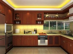 This is Wooden Kitchen Design Beautiful Lights And Ceiling Design Item of Fascinated Cozy Kitchen Design Ideas. Stunning Kitchen Cabinet Design ideas for your home. Wood cabinet kitchen and ceiling lights adorable