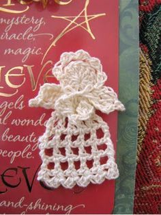 DYI: Angel, Gingerbread boy & girl, Scarfette, Pineapple Lace Pumpkin Collar, Leaf Dish Cloth, Sunflower Dish Cloth, Star Dish Cloth, Pot Holder, May Day Basket, Cat Hat, all at this link.  ♥ Knit Or Crochet, Crochet Crafts, Free Crochet, Thread Crochet, Crochet Motif, Crochet Stitches, May Day Baskets, Crochet Angels, Crochet Angel Pattern