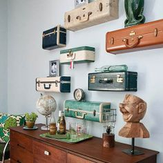 #diy #old #cool #beautiful #suitcase #shelves