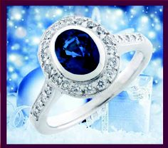 makes me smile :)  Sapphire and diamonds ring