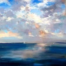Resultado de imagen para Pinturas al oleo o acrilico con cielos hermosos