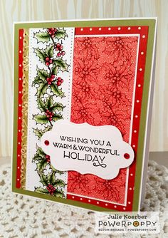 Out To Impress: Hollyberries digital stamp set by Power Poppy.