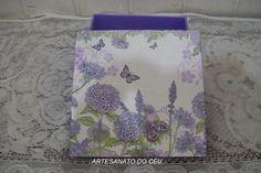 Caixa Flores Lilás - R$ 18,00 Cod. PCX 111