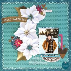 "⛄😊 Say Hello to Happiness this season by creating your own scrapbook winter wonderland. The American Crafts ""New Day"" Collection gives us a fresh and upbeat pop of color, even when it's snowing outside!"