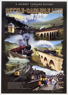 Poster produced for Regional Railways (North East) to promote rail services on the Settle-Carlisle line Canvas Print Framed, Poster, Canvas Prints, Puzzles, Photo Gifts and Wall Art Train Posters, Railway Posters, Ribblehead Viaduct, British Travel, National Railway Museum, Train Service, Train Art, Train Travel, Travel Ads