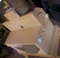 Router Table that goes from horizontal to vertical - by Mark55 @ LumberJocks.com ~ woodworking community