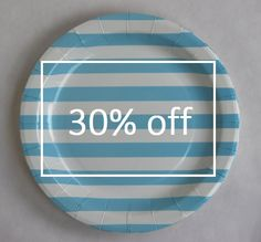 Paper Plates - Light Blue Stripes for $6.99 from The TomKat Studio Party Shop | summer party fun! | Pinterest & Paper Plates - Light Blue Stripes for $6.99 from The TomKat Studio ...