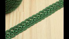 Вязание крючком ленточного кружева на основе шнура из пышных столбиков C...