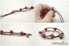 Design an ingenious closure with Tibetan bead cap