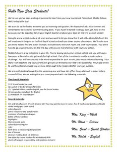 teacher welcome letter to students stars team welcome letter teacher welcome letters teacher introduction