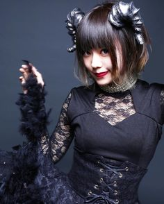 Visual Kei, Japanese Girl, Goth, Polka Dots, Women, Kpop, Funny, Girls, Fashion