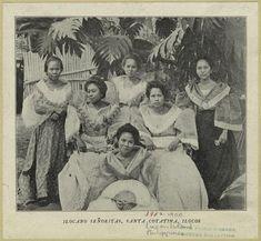 1900. ilocana senoritas, santa cotatina, ilocos.