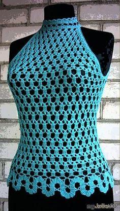 Fabulous Crochet a Little Black Crochet Dress Ideas. Georgeous Crochet a Little Black Crochet Dress Ideas. Débardeurs Au Crochet, Crochet Bolero, Pull Crochet, Mode Crochet, Crochet Shirt, Crochet Woman, Crochet Crafts, Crochet Stitches, Crochet Designs