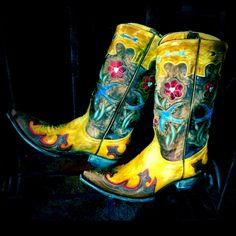 Hippie at heart cowgirl boots. -www.rivertrailmercantile.com
