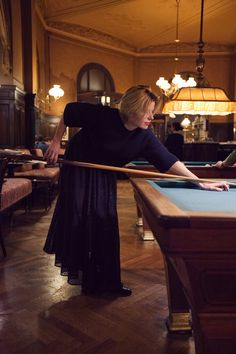 1.30 Enjoying the night playing pool in Vienna's Cafe Sperl, a classy way to end the day - wearing the A Day in a Life Navy Cropped Knitted Jumper, the Navy Full Circle Glitter Maxi Skirt and the Navy Turtleneck Ribbed Dress