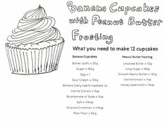 Banana cupcakes with peanut butter frosting recipe Peanut Butter Eggs, Peanut Butter Frosting, Banana Cupcakes, 12 Cupcakes, Cake Makers, Unsalted Butter, Celebration Cakes, Sour Cream, Icing