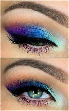 Makeup Looks On Pinterest both Makeup Revolution Mascara over Colorful Eye Makeup For Halloween