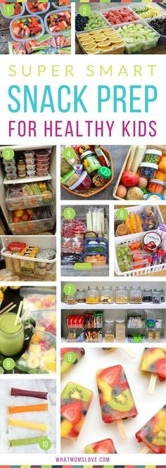 Healthy Snack Prep Ideas for Kids | Simple Organizational Tips For Clean Eating - perfect for over the summer or back to school. Snack bins, pantry and fridge organization, make-ahead snacks, and more!