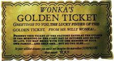 Billete dorado de Wonka