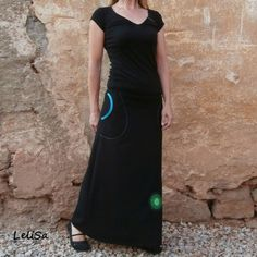 ...maxi sukně černá...od Lelisy Waist Skirt, High Waisted Skirt, Skirts, Fashion, Moda, High Waist Skirt, Fashion Styles, Skirt