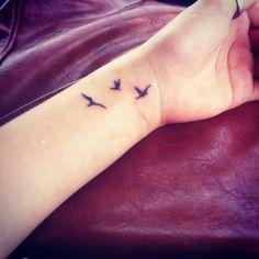 Tiny birds tattoo on wrist nice tattoos bird tattoo wrist, tiny. Bird Tattoos For Women, Small Bird Tattoos, Little Bird Tattoos, Bird Tattoo Men, Bird Tattoo Wrist, Small Tattoos For Guys, Tattoo Owl, Three Birds Tattoo, Foot Tattoos
