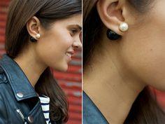 DIY TWO TONE DOUBLE PEARL EARRINGS