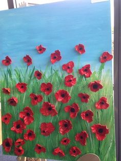 Poppy Craft For Kids, Art For Kids, Crafts For Kids, Remembrance Day Activities, Remembrance Day Poppy, Spring Art, Spring Crafts, Egg Carton Crafts, Elementary Art