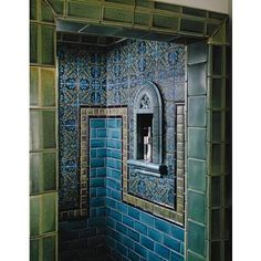Tapestry Shower and Bath from Motawi Tileworks