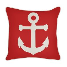 Thomas Paul Outdoor Anchor Pillow in Lava - OD-0202-LAV