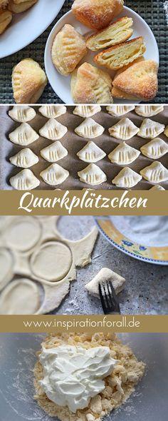 "Quark cookies ""Geese-Latschen"" - quick & delicious recipe-Quarkplätzchen ""Gänse-Latschen"" – schnelles & leckeres Rezept The Russian cookies ""Geese-Latschen"" fit … - Biscuits Russes, Russian Cookies, No Gluten Diet, Cheese Cookies, Tasty, Yummy Food, Snacks, Bakery, Sweet Treats"