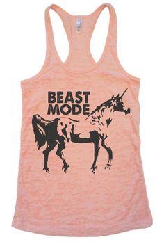 Unicorn Tank Top -- Fitness Positive Inspirational Workout Shirt