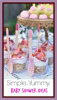 3 Great Baby Shower Food Ideas. Super affordable and fancy. #babyshower #oatmeal