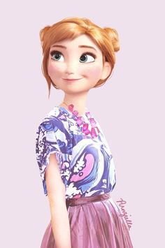 And Anna looking more adorable than ever, if that's even possible. | This Is What Disney Characters Would Look Like In The Modern World