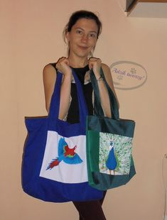 My bags with handpainted birds :)