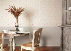 Collection LILY ROSE. Liberty, roses,  romantisme, jardins anglais, fleurs, blanc, beige, ocre, papier-peint