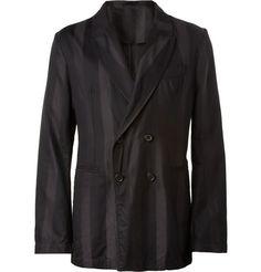 Ann Demeulemeester Unstructured Striped Silk-Blend Blazer | MR PORTER