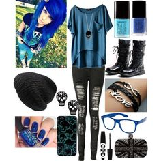 A fashion look from October 2013 featuring Boohoo jeans, Alexander McQueen clutches and Mes Demoiselles... hats. Browse and shop related looks.