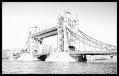 FotoSketcher - Tower bridge b&w