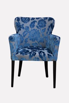 Very comfortable and elegant armchair with a unique floral fabric upholstery. Available in many different colors!