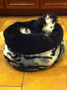 Dog or Cat Bed Snuggle sack 23 X 24  All Plush Faux by FortunesPet, $52.99
