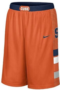 Nike Syracuse Orangemen Men's Replica Basketball Shorts Large by Nike. $44.99. Dribble and shoot like your favorite college players in these Nike® men's replica basketball shorts. They are decorated with screenprinted NCAA® team graphics and feature the team colors and an elastic waistband.