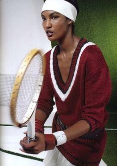 """Belles de Match"": Sessilee Lopez and Toni Garrn Play Tennis in Hermes by Koto Bolofo for Le monde d'Hermes"