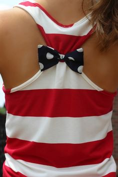 {Preorder} America Tank Top: Red/White/Navy - Lavish Boutique
