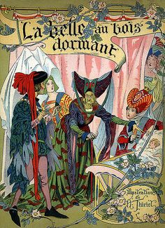 Vintage Sleeping Beauty Illustration--French Version-Book Cover