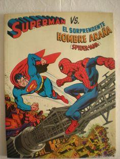 Cómic Gigante Superman Vs Spider-man (Novaro) (1976) 1ª Edición - Foto 1