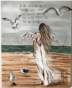 "I love these ""angel art"" paintings, but in doing similar, I would use scripture. Rock Kunst, I Believe In Angels, Angel Pictures, Angels Among Us, Angel Cards, Guardian Angels, Beautiful Soul, Painted Rocks, Art Drawings"